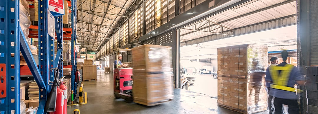Manufacturing warehouse getting inventory from vendors after importing vendor contracts